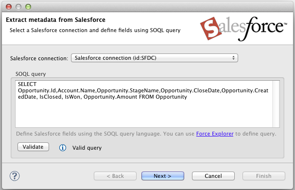 Extracting Metadata from Salesforce