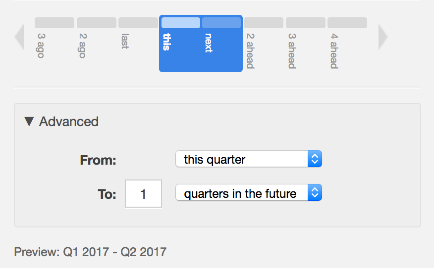 Multiple day date picker dialog box